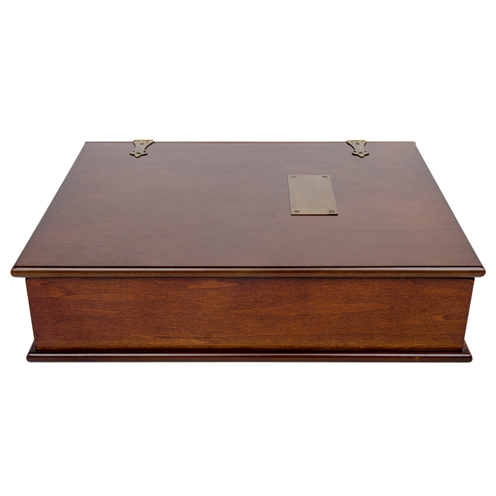 Large Exclusive Wood Treasure Box Photo Organizer and Memory Box with Brass Latch.
