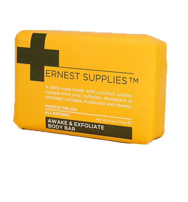 Ernest Supplies Awake & Exfoliate Body Bar, 6oz