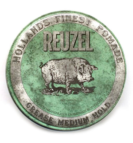 Reuzel Green Grease Pomade, Medium Hold 4 oz / 113 g