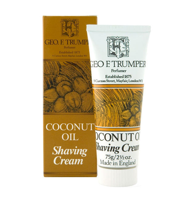 Geo F. Trumper Coconut Oil Shaving Cream, Stand Up Tube, 75 grams