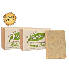 Dominica Bay Rum Herbal Soap, 2 x 4 ounce bars