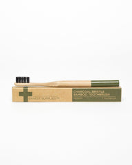 Ernest Supplies Charcoal Bristle Bamboo Toothbrush