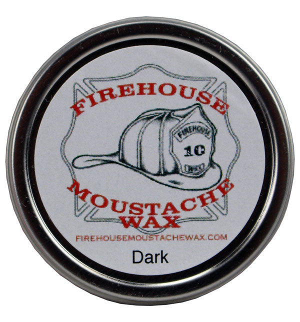 Firehouse Moustache Wax - Dark, 1oz