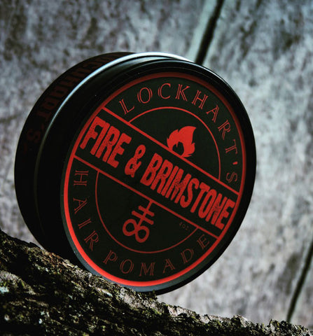 Lockhart's Authentic Fire & Brimstone Pomade Medium Hold / Shine, Limited Edition, 4oz