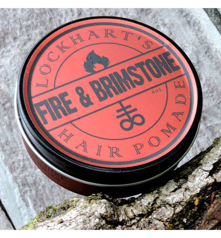 Lockhart's Authentic Heavy Hold Fire & Brimstone Pomade, Limited Edition, 4oz