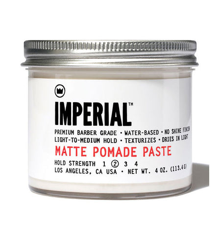 Imperial Barber Products - Matte Pomade Paste 5oz *No Shine* *Light/Med Hold*