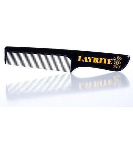 Layrite Pomade Pocket Comb, Black, Fine Toothed, Plastic