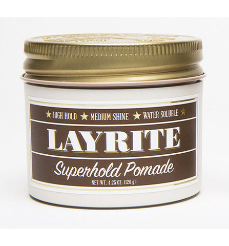Layrite Super Hold Superhold Deluxe Pomade, 4 oz