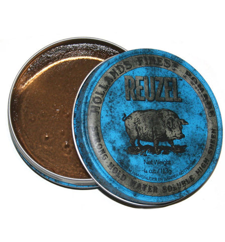 Reuzel Blue Water-Based Pomade, Strong Hold 4 oz / 113 g