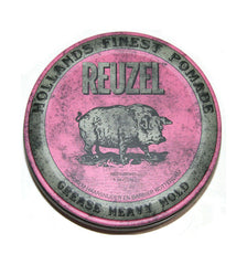 Reuzel Pink Strong Heavy Hold Grease Pomade, 4 oz