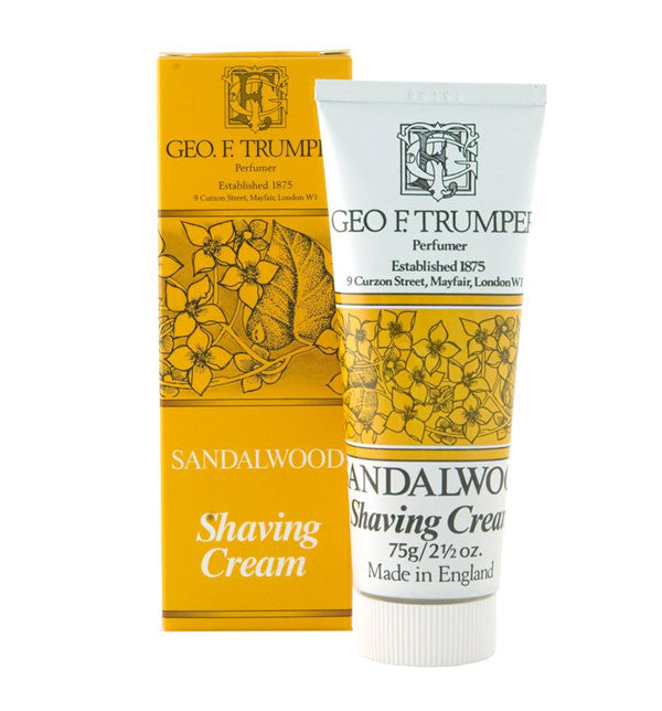 Geo F. Trumper Sandalwood Soft Shaving Cream, Stand Up Tube, 75 grams
