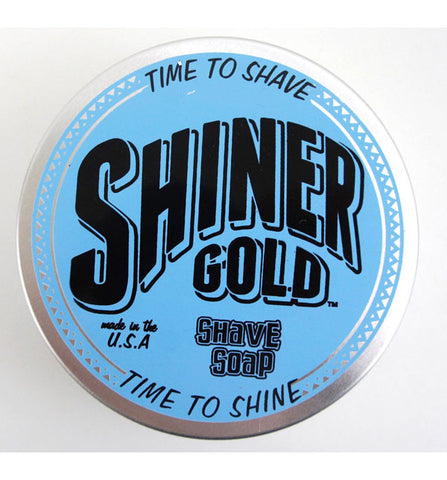 Shiner Gold Shave Soap with Spearmint Oil, All Natural, 3oz