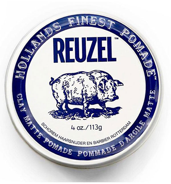 Reuzel Clay Matte Pomade - Matte Finish, Strong Hold 4 oz / 113 g