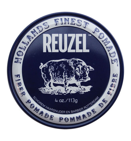 Reuzel Fiber Pomade – Pliable Hold, Natural Finish 4 oz / 113 g