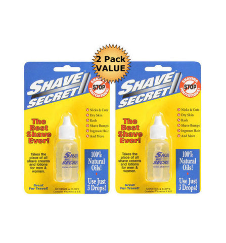 SHAVE SECRET Natural Pre Shave Oil - Two Pack Value