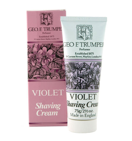 Geo F. Trumper Violet Soft Shaving Cream, Stand Up Tube, 75 grams