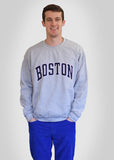 Boston Apparel Company, Boston Arc Crew Sweatshirt, Heather