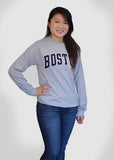Boston Apparel Company, Boston Arc Long Sleeve Shirt, Female, Grey