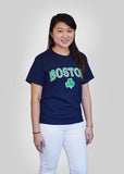 Boston Shamrock T Shirt, Boston Apparel Company, Boston, Shamrock