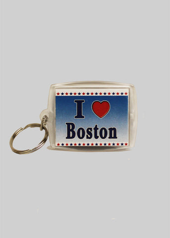 I Love Boston Keychain