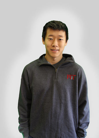 MIT Quarter Zip Embroidered Sweater