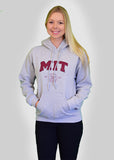 MIT Athletic Grey Crest Logo Hooded Sweatshirt