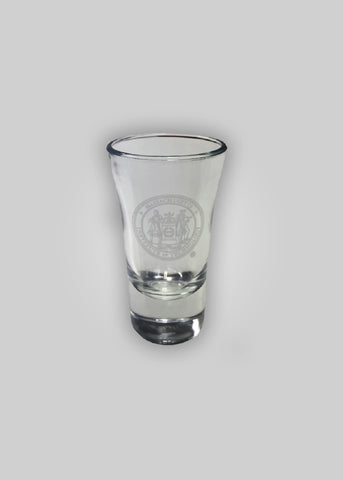 MIT Etched Crest Shot Glass