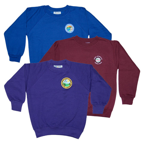 Primary School Sweatshirt (round neck) with Name