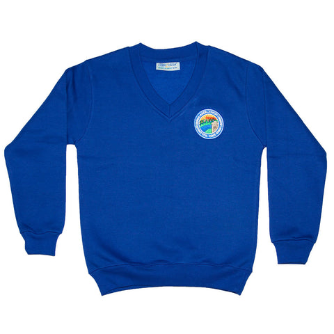 Primary School Sweatshirt (V neck) with Name