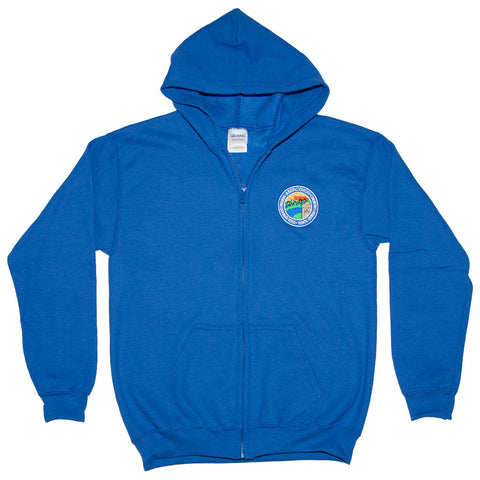 Primary School Zipped Hoody with Name