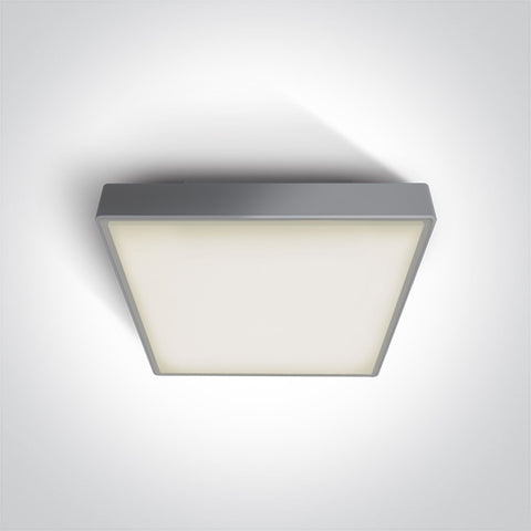 Grey Led Plafo 24W Ww Ip65 230V