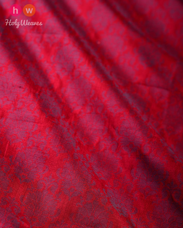 Maroon Handwoven Silk Tanchoi Fabric- HolyWeaves