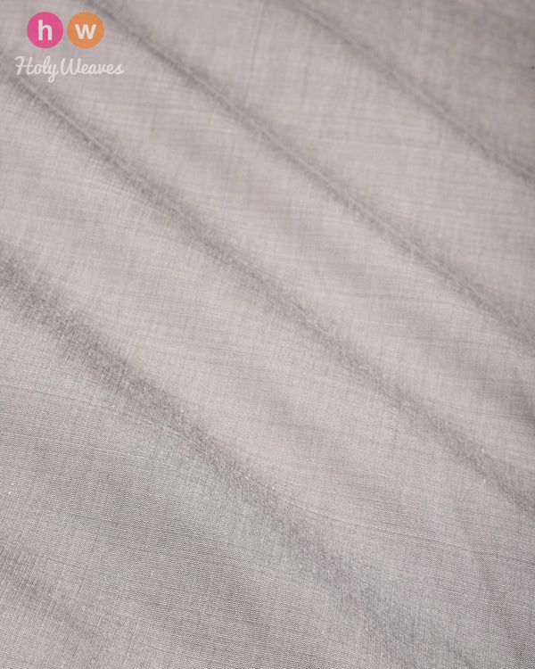 Stone Gray Plain Art Cotton Silk Fabric for Pyjama, Chudidar, Furnishings etc - HolyWeaves