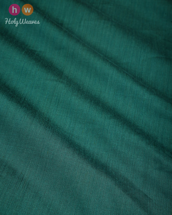 Bottle Green Plain Art Cotton Silk Fabric for Pyjama, Chudidar, Furnishings etc- HolyWeaves