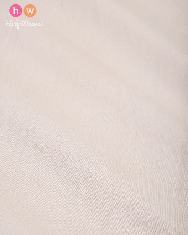 White Plain Art Cotton Silk Fabric for Pyjama, Chudidar, Furnishings etc - HolyWeaves