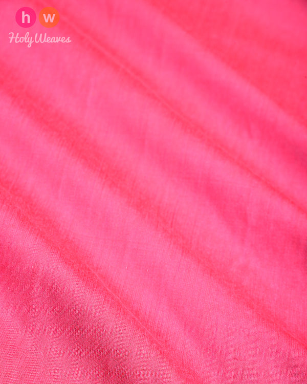 Salmon Pink Plain Art Cotton Silk Fabric for Pyjama, Chudidar, Furnishings etc - HolyWeaves