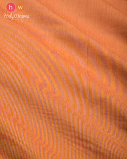 Peach Pin-stripe Plain Woven Art Cotton Silk Fabric for Pyjama, Chudidar, Furnishings etc- HolyWeaves