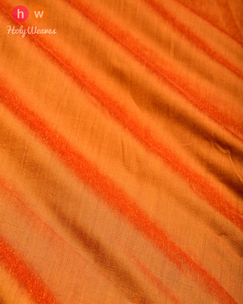 Orange Plain Art Cotton Silk Fabric for Pyjama, Chudidar, Furnishings etc - HolyWeaves