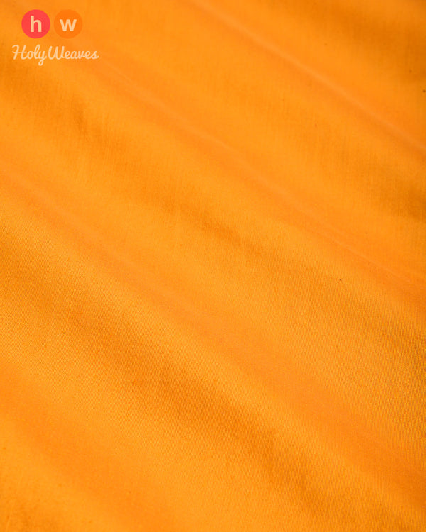 Marigold Yellow Plain Art Cotton Silk Fabric for Pyjama, Chudidar, Furnishings etc- HolyWeaves