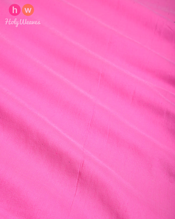 Flamingo Pink Plain Art Cotton Silk Fabric for Pyjama, Chudidar, Furnishings etc- HolyWeaves