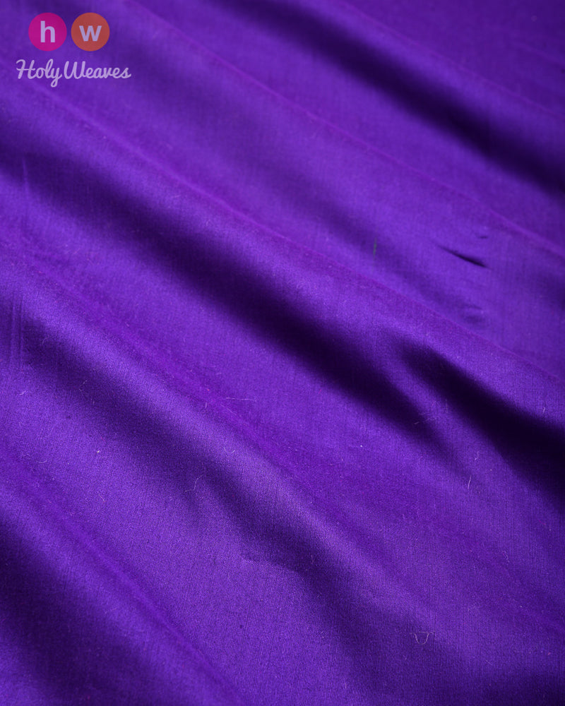 Purple Plain Art Cotton Silk Fabric for Pyjama, Chudidar, Furnishings etc- HolyWeaves