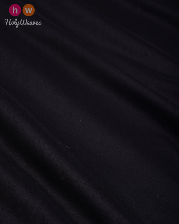 Black Plain Art Cotton Silk Fabric for Pyjama, Chudidar, Furnishings etc- HolyWeaves
