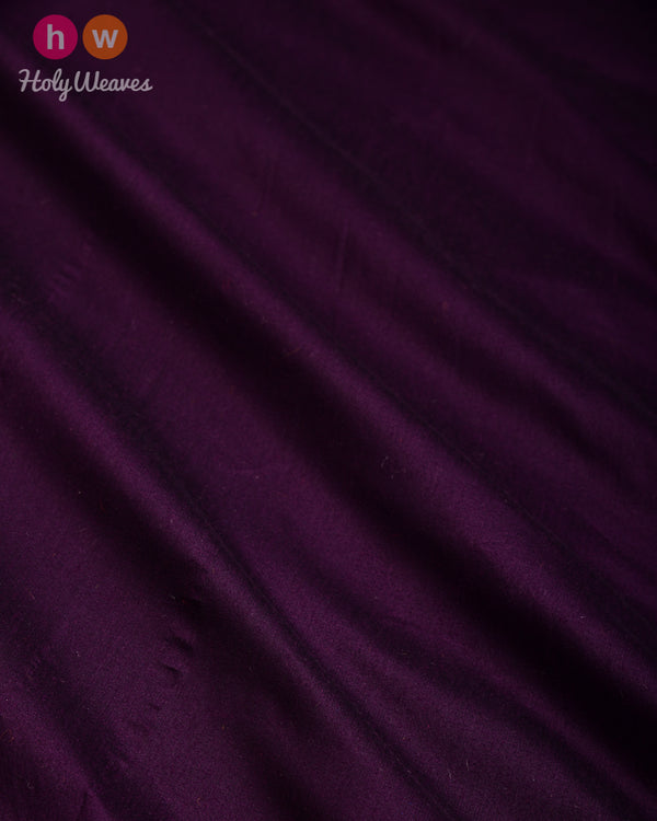 Byzantium Purple Plain Art Cotton Silk Fabric for Pyjama, Chudidar, Furnishings etc- HolyWeaves