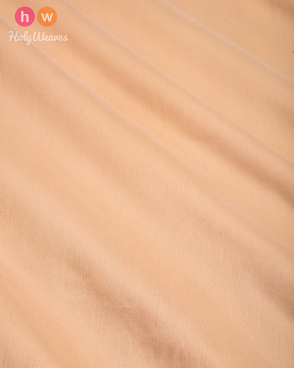Beige Plain Art Cotton Silk Fabric for Pyjama, Chudidar, Furnishings etc- HolyWeaves