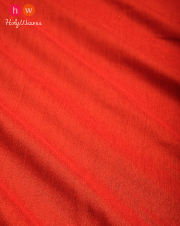 Orange Plain Art Cotton Silk Fabric for Pyjama, Chudidar, Furnishings etc- HolyWeaves