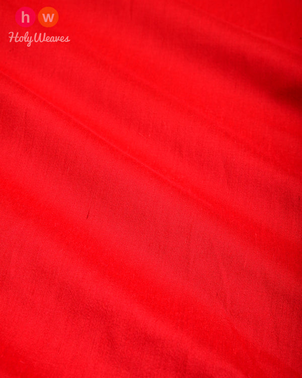 Raspberry Red Plain Art Cotton Silk Fabric for Pyjama, Chudidar, Furnishings etc- HolyWeaves