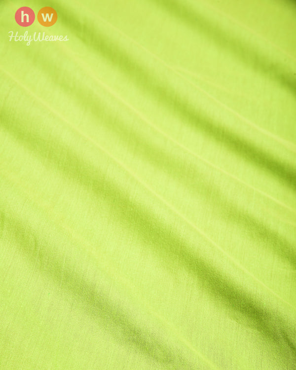 Neon Green Plain Art Cotton Silk Fabric for Pyjama, Chudidar, Furnishings etc- HolyWeaves