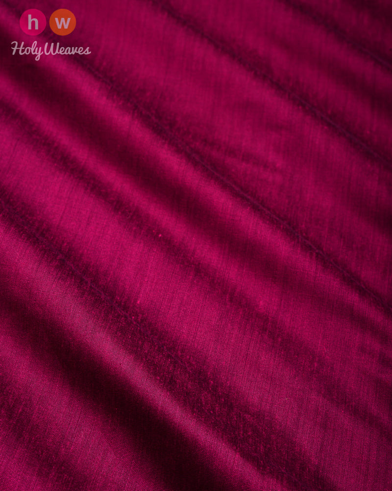 Magenta Plain Art Cotton Silk Fabric for Pyjama, Chudidar, Furnishings etc - HolyWeaves