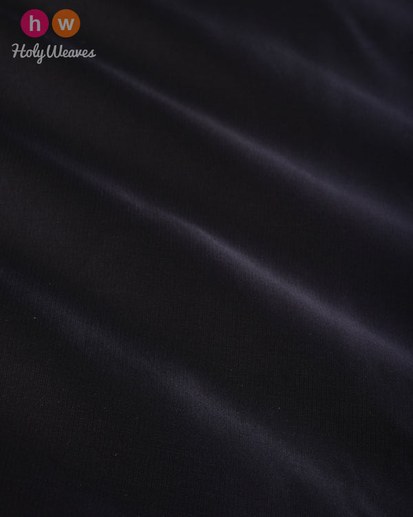 Black Plain Satin Viscose Silk Fabric - HolyWeaves