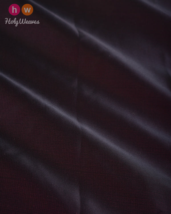 Mahogany Plain Satin Viscose Silk Fabric - HolyWeaves